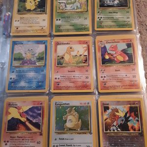 99 Pokemon Cards Starters, Base, Base 2, Fossil, Team Rocket, Jungle, Rare, Promo, Holo, Entei for Sale in Herndon, VA