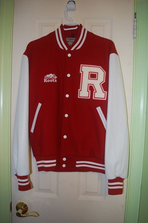 Roots Leather Varsity Jacket - Rare Unembroidered - M - $350 for Sale in Bethesda, MD