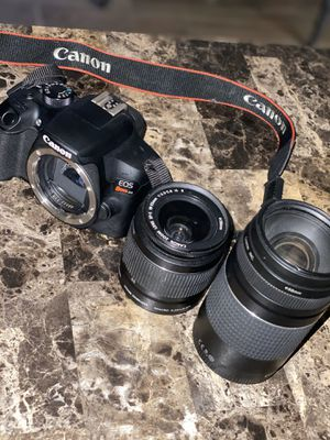 CANON REBEL T6 EOS FOR CHEAP!! 2 LENSES INCLUDED!! for Sale in Highland, CA
