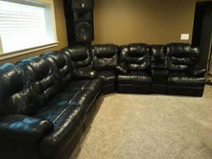 Genuine real leather sectional couch for Sale in Kent, WA