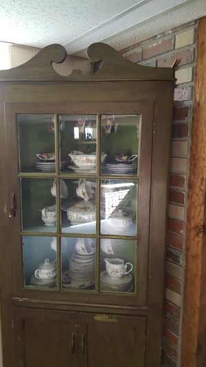 China cabinet with dish set!! for Sale in Southfield, MI