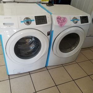 Open box New SAMSUNG Front Load Washer And Gas Dryer Set Never Used for Sale in Perris, CA