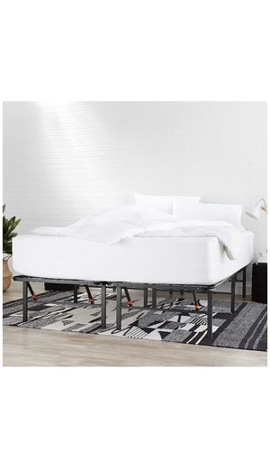 Foldable Metal Platform Bed Frame for Under-Bed Storage - Tools-free Assembly, No Box Spring Needed - Queen for Sale in Picayune, MS