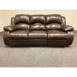 Genuine Leather Recliner Couch In Excellent Conditions! for Sale in Richardson,  TX