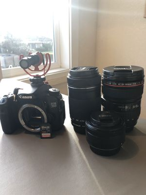 Canon 70d bundle for Sale in Eugene, OR