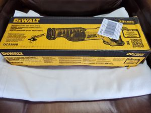 DEWALT DCS380B 20V MAX CORDLESS RECIPROCATING SAW TOOL ONLY for Sale in North Las Vegas, NV
