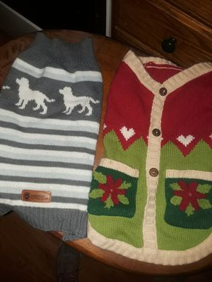 2 Medium Size Dog Sweaters for Christmas for Sale in Wheeling, WV