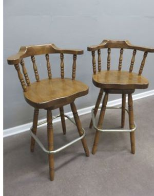 "Wooden Bar Stools with Chrome Footrest 22.5"" W x 40""H for Sale in Akron, OH"