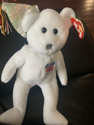 """1999 RARE TY """"Fuzz"""" Original Beanie Baby Plush Toy Collectible With ERRORS for Sale in Portland, OR"""