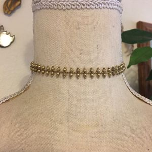 Vintage double row gold tone bead choker necklace for Sale in Henderson, NV
