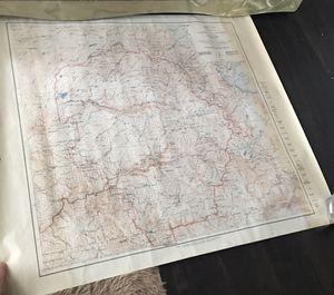 Original U.S. 1950 map of YOSEMITE national park for Sale in San Francisco, CA