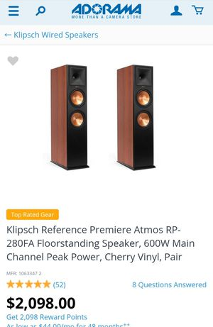 Klipsch RP-280FA Cherry for Sale in OLD RVR-WNFRE, TX
