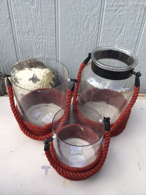 Candle holders set glass for Sale in Jurupa Valley, CA