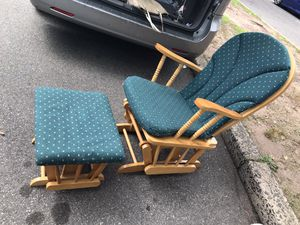 Glider rocking chair and ottoman for Sale in Clifton, NJ