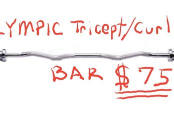 Tricept/Curl Bar (Olympic) for Sale in Escondido,  CA