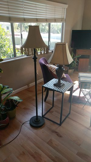 2 lamps - 1 desk and 1 floor lamp for Sale in San Diego, CA