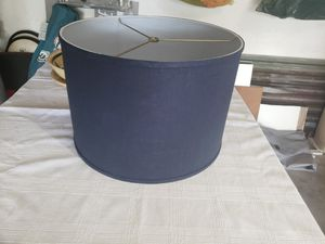 Round Linen Navy Lamp Shade for Sale in Fort Lauderdale, FL