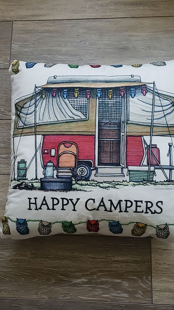 Accent pillow pop up campers edtion