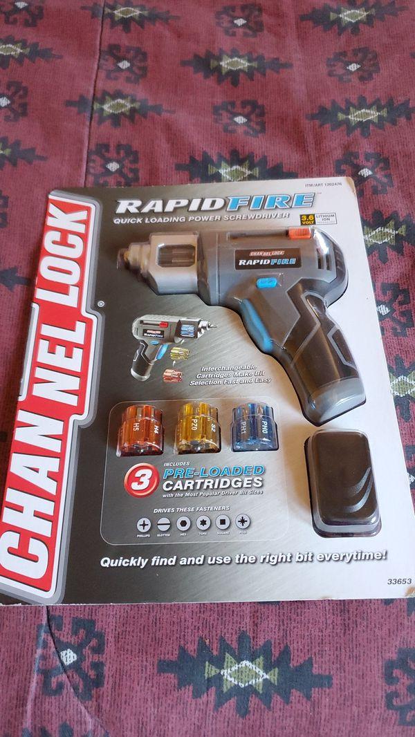 Rapid fire quick loading power screwdriver