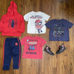 Boys Spider-Man Clothes Size 3t Shoes Size 9c for Sale in Southgate, MI