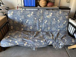 Black metal frame full size futon for Sale in Las Vegas, NV