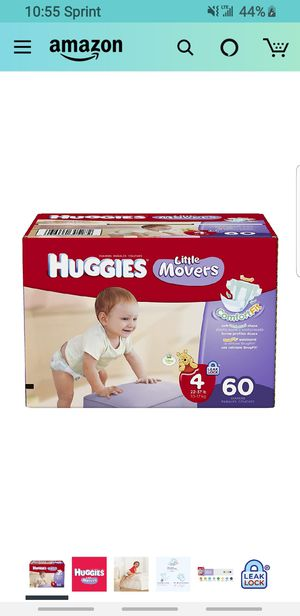 Huggies little movers size 4 60count for Sale in Perris, CA