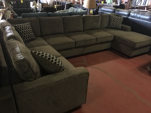 Provence large 3pc U-shaped sectional storage sofa gray brown by Coaster CO-501686 for Sale in Redding, CA