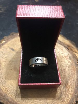 Size 10 Dolphin Cut Out Stainless Steel Ring for Sale in McDonough, GA