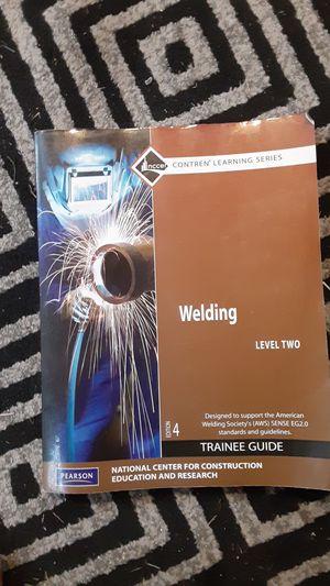 Nccer welding school training book for Sale in Loganton, PA
