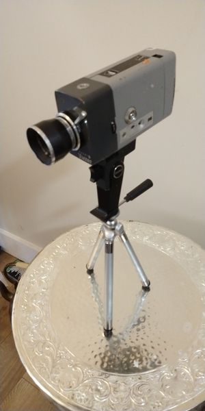 Vintage 8 mm film camera with tripod great display piece for Sale in North Chesterfield, VA