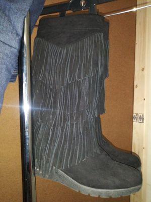 Unas lindas botas negras numero 7 for Sale in Adelphi, MD