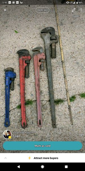 Pipe wrenches for Sale in Simmesport, LA