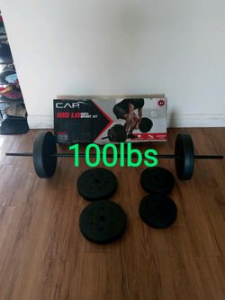 100 lb weight set, new in box for Sale in Fresno, CA
