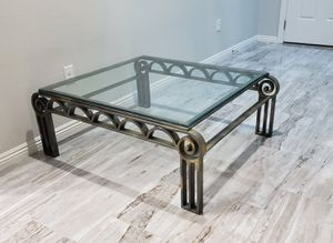 Bronze glass coffee table for Sale in Las Vegas, NV