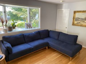 Navy L shaped sectional for Sale in Falls Church, VA