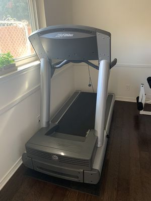Home gym life fitness treadmill and home gym system for Sale in Dallas, TX