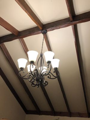 Chandelier 6 light bulbs (LED bulbs included) for Sale in Garden Grove, CA