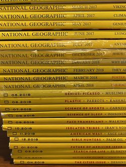 National Geographic Magazine 2017-2019 for Sale in Seattle,  WA