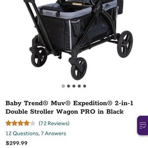 Baby Trend Muv Double Stroller/wagon for Sale in Carson, CA