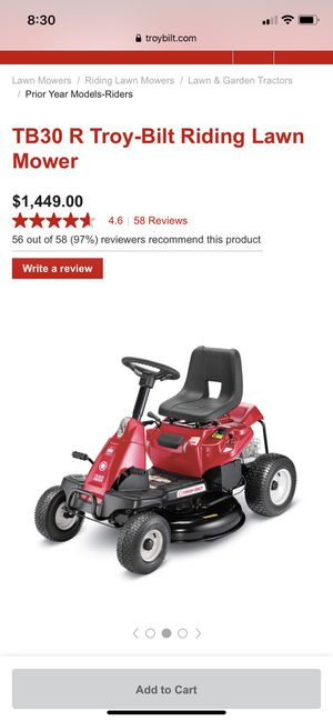TB30 R Troy-Bilt Riding Lawn Mower for Sale in Columbia, IL