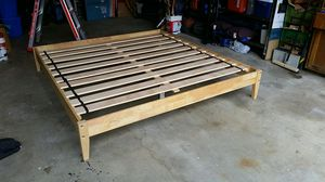 King bed frame, solid wood. for Sale in Lake Forest Park, WA