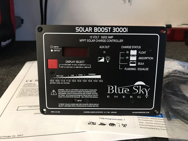 Blue Sky Energy Solar Boost 3000i Solar Charge Controller Van camper RV vanlife victron sprinter Chevy ford