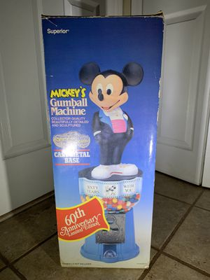Mickey Mouse Gumball Machine 60 Year Anniversary for Sale in Staten Island, NY
