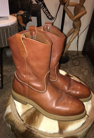 Brown red wings boots red wing men's size 9 steel toe leather for Sale in Cypress, CA