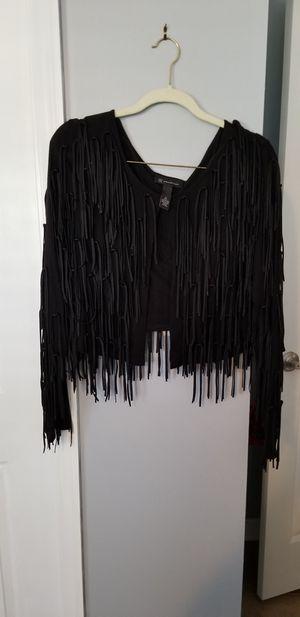 Women's I.N.C. fringe back jacket size M for Sale in Tampa, FL