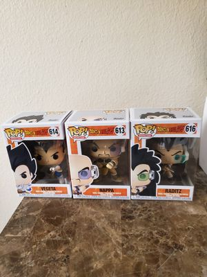 Funko Pop Vegeta, Nappa and Raditz for Sale in Irvine, CA