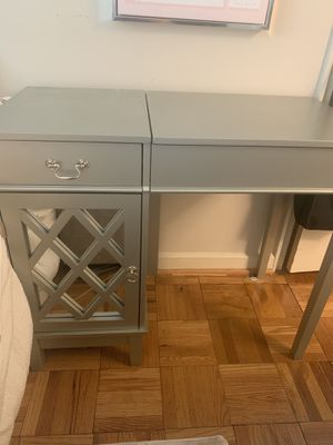 Silver Mirrored Vanity/Desk for Sale in Washington, DC