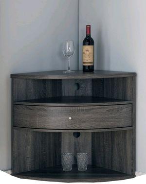 Multi storage Corner Stand in Distressed Gray Finish for Sale in Pomona, CA
