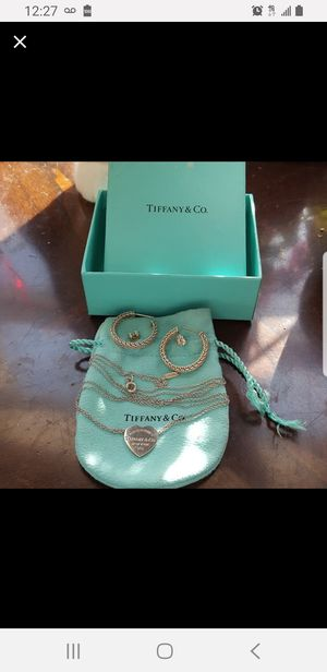 Tiffany Jewelry-- Earrings and Necklace for Sale in Philadelphia, PA