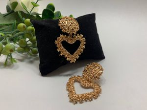 EmbossedMetal Heart Stud Earrings For Women, Gold Color for Sale in Los Angeles, CA